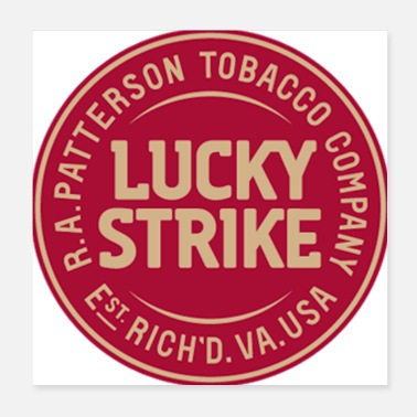 Strike Lucky Strike Old Timey Logo - Poster