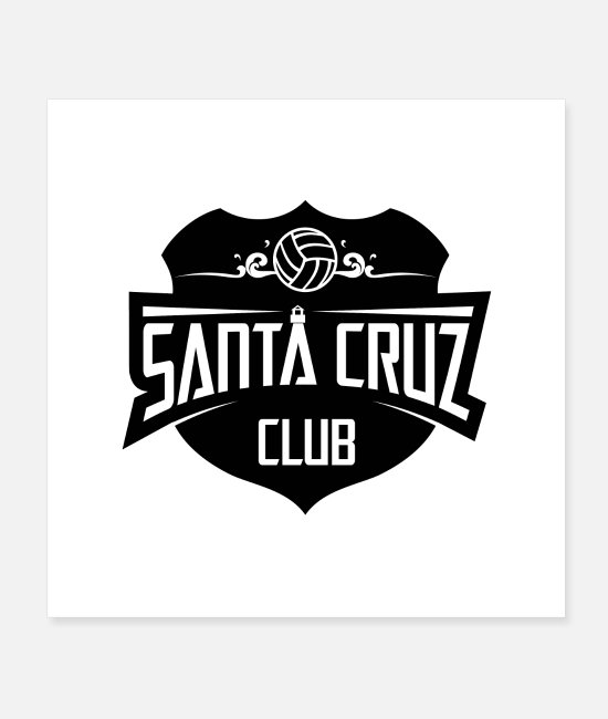 Ball Posters - Santa Cruz Water Polo Club - Posters white