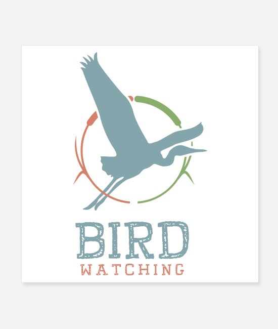 Bird Community Posters - Bird Watching Logo - Posters white