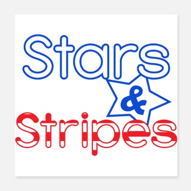 Stripes Stars and Stripes - Poster