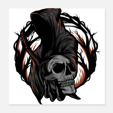 Illustration reaper illustration - Poster