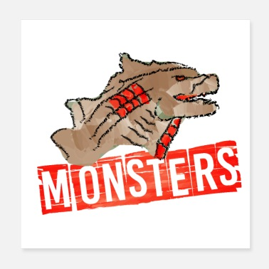Illustration Monsters Illustration - Poster