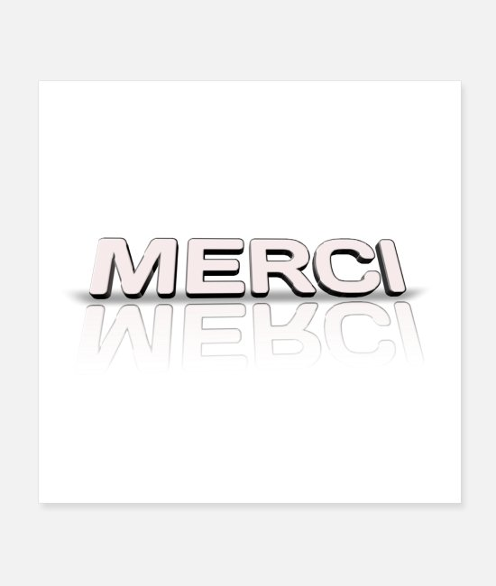 Heart Posters - merci - Posters white