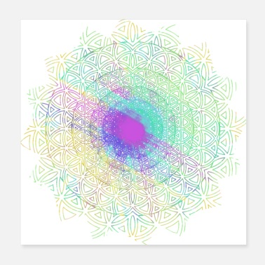 Meditation Flower of Life, Hippie Mandala Two - Poster