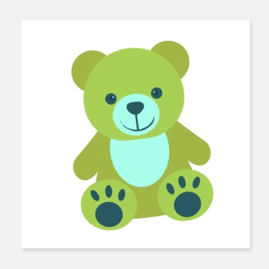 Teddy Bear Green teddy bear - Poster