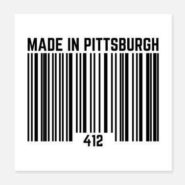 Pitt Made In Pittsburgh 412 UPC code Funny Gifts - Poster