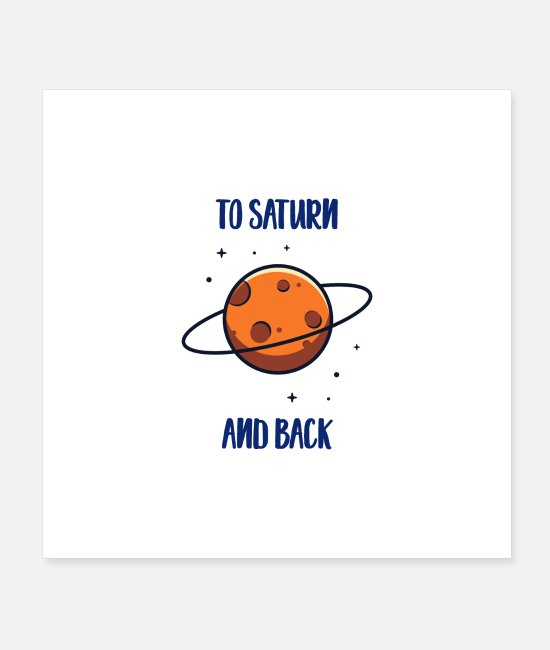 Ass Posters - To Saturn And Back - Posters white
