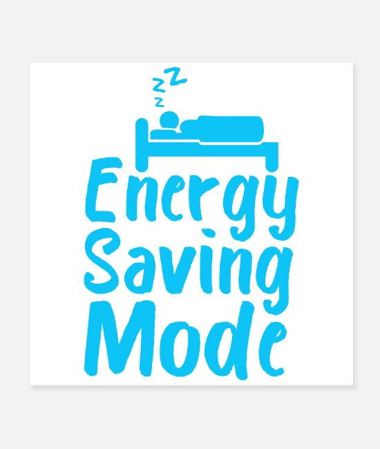 Bed Posters - Energy Saving Mode Good Night Funny Gift Idea - Posters white