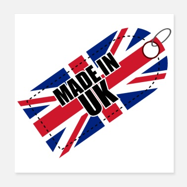 England Made in UK Flag of United Kingdom Gift Idea - Poster