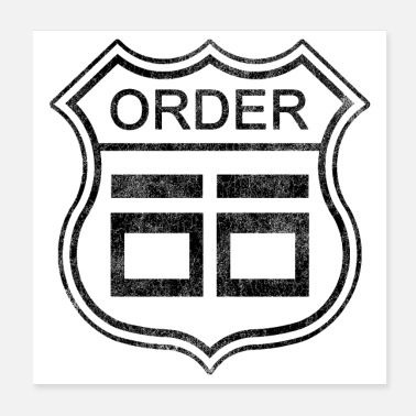 Emperor Order 66 as Route 66 Sign | Star Wars | DopeyArt - Poster