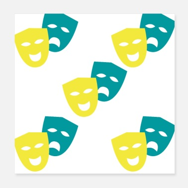 Theatre Theatre Masks Perfect Theatre Gift Pattern - Poster