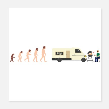 Camping With Friends Evolution Camper Summer Funny Gift Idea - Poster