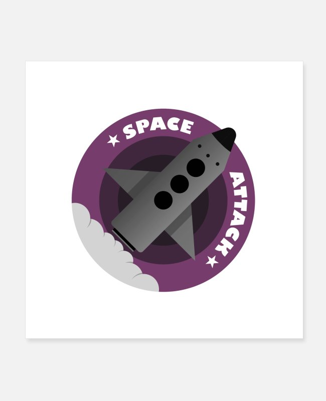 Missile Posters - Space Attack Shuttle Design - Posters white