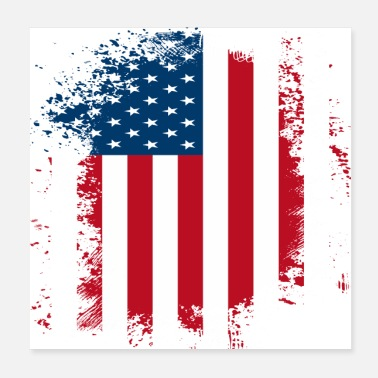 States Flag American American Flag Distressed - Poster