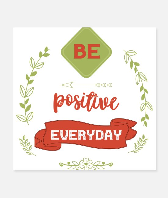 Training Posters - BE POSITIVE EVERYDAY - Posters white