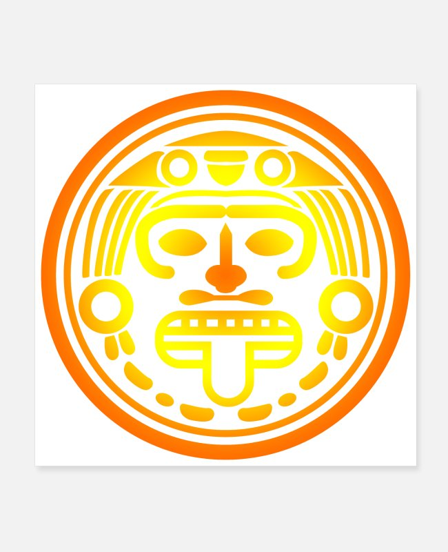 South America Posters - Aztec Symbol Aztec Sun God Funny Gift Idea - Posters white