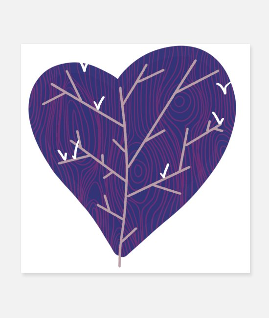 Nature Posters - Dove Heart Tree - Posters white