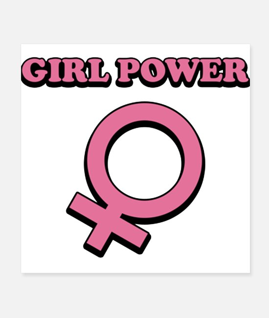Power Ballads Posters - Girl Power - Posters white