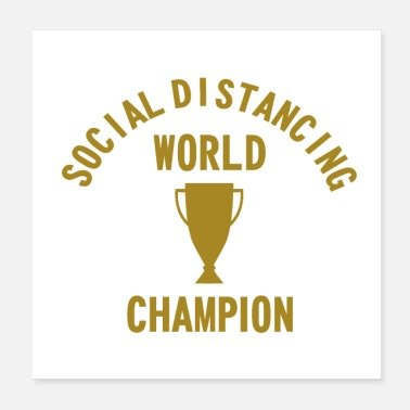 Spam Social Distancing World Champion - Poster