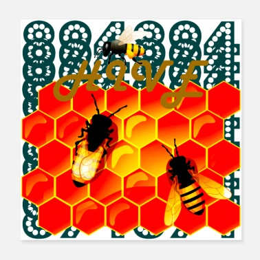 Bee Hive 894 Hive Bees - Wild Honeycomb - Poster