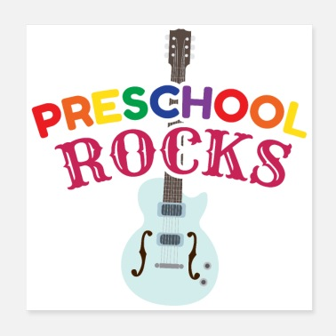 Children Kids Preschool Rocks Music Lover Funny gift Idea - Poster