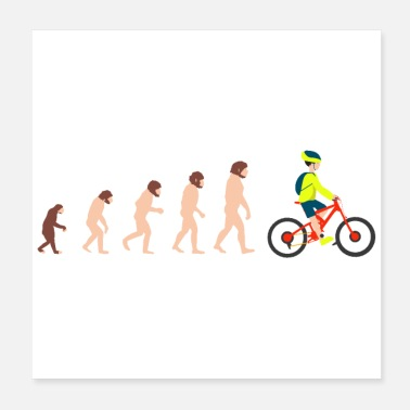Cycling Evolution Mountain Biking MTB Lover Gift Idea - Poster