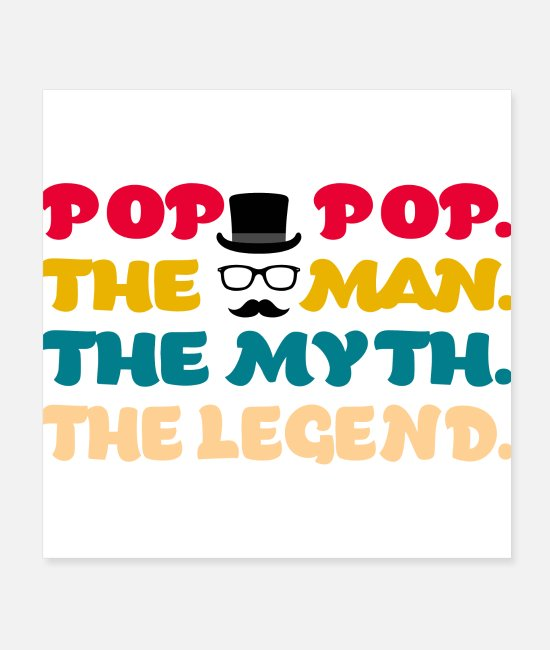 Cute Cool Joker Posters - Pop Pop The Man The Myth The Legend - Posters white