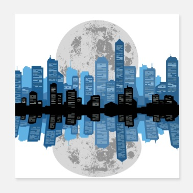 Downtown Cityscape Reflection - Poster