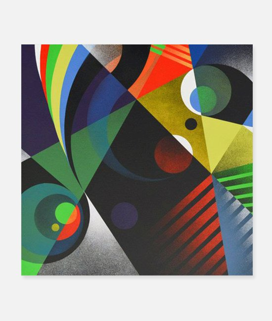 Graphic Art Posters - Geometric shapes graphic design - Posters white
