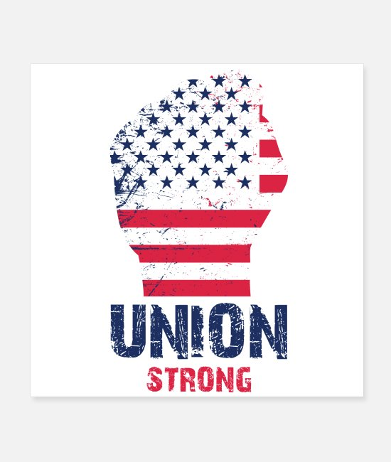 Holidays Posters - Union Strong Vintage USA Flag Proud Labor Day - Posters white