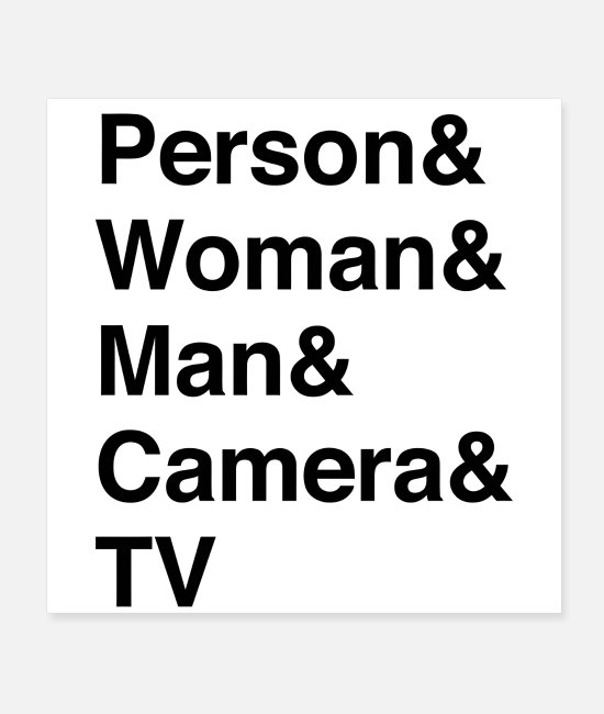 TV Posters - Person Woman Man Camera TV - Posters white