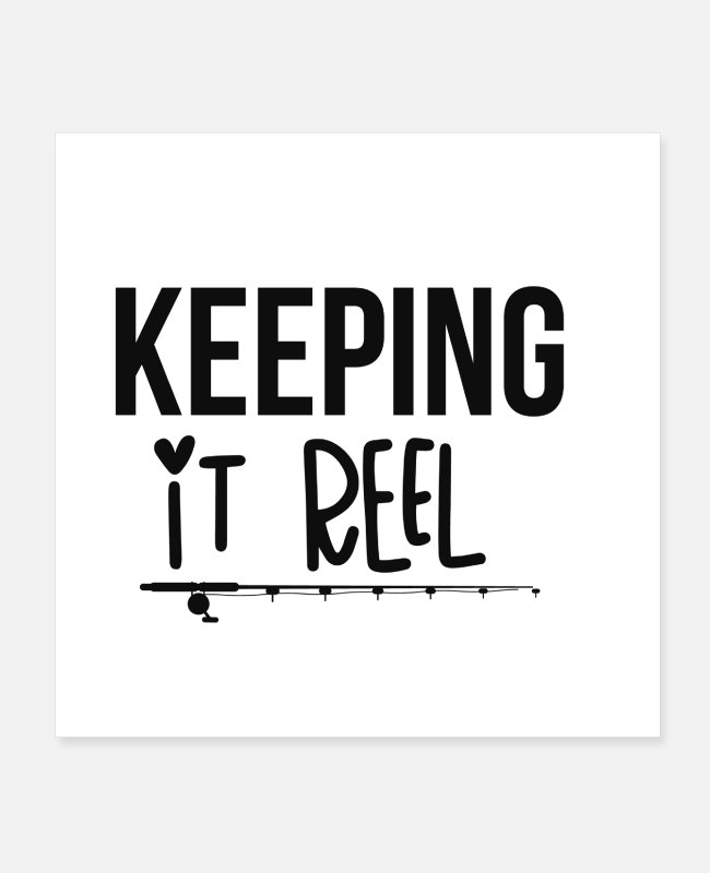 Fish Hook Posters - Keeping it real - Posters white