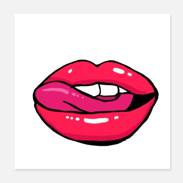 Lipgloss Red Lips - Poster