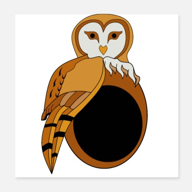 Eyeball Adorable British Barn Owl - Poster