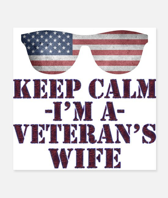 Great Day Posters - veteran's wife - Posters white