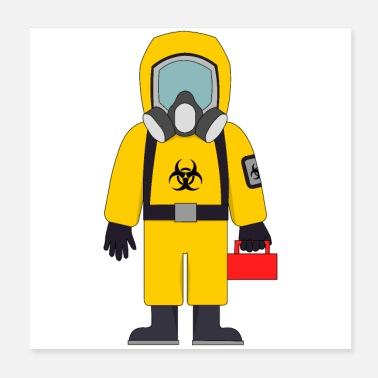 Hazard Hazard Suit wth Lunch Box - Poster