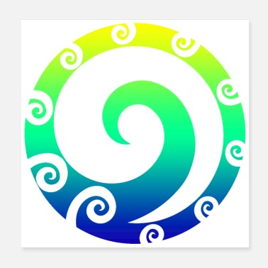 Tattoo Designs Maori Koru Art Polynesian Tribal Tattoo Gift Idea - Poster