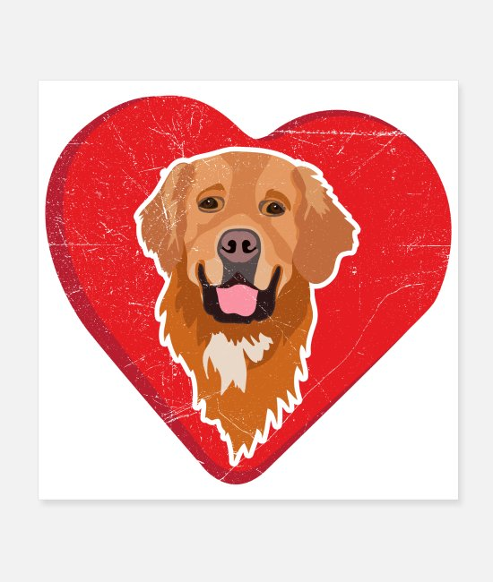 Gold Posters - Favorite Dogs Golden Retriever Love Gift Idea - Posters white