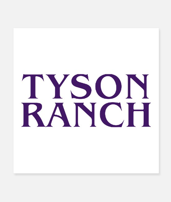 Mma Posters - Tyson Ranch limited edition 2020 - Posters white