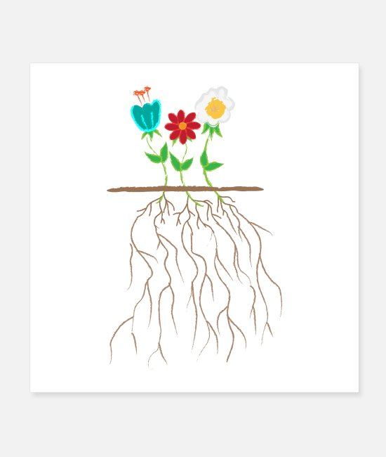 Life Force Posters - Life of flowers Flower Lover Gardner Gift Idea - Posters white