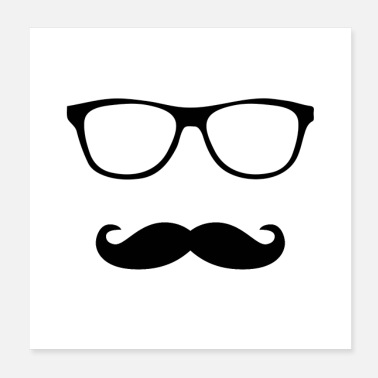 Mustache Specs and Mustache Design - Poster