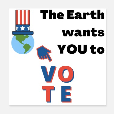 Address Vote Earth, Environment, Climate Change, USA - Poster