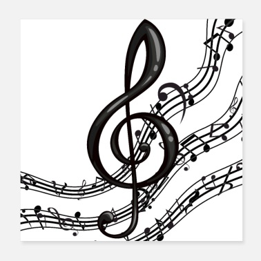 Band Treble Clef - Poster