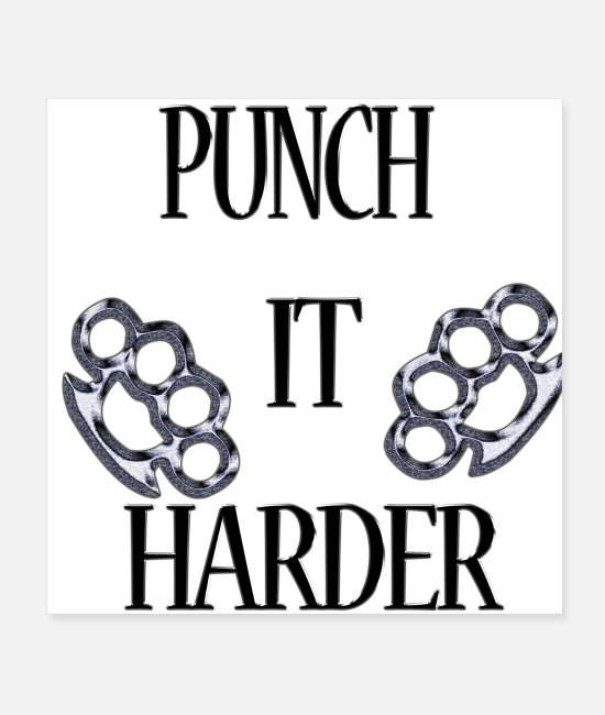 Rock Posters - Punch It Harder - Posters white