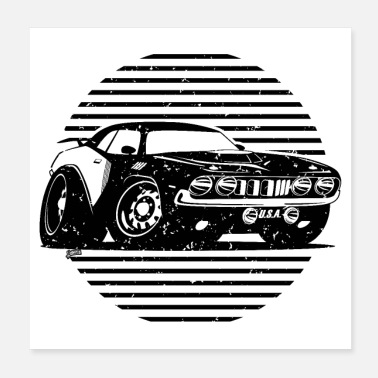 Classic Car Seventies Classic American Muscle Car - Poster
