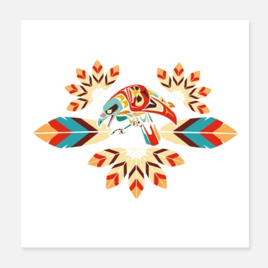 American Indian Indian feathers decoration - Poster