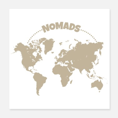 Remote Nomads World Trip Remote Worker Funny Gift Idea - Poster