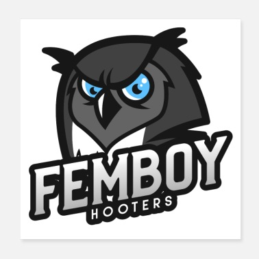Cosplay Femboy Hooters Clothing Dark Owl Graphic - Poster