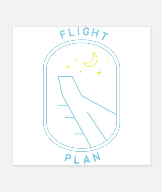 Starry Sky Posters - Flight Plan - Posters white