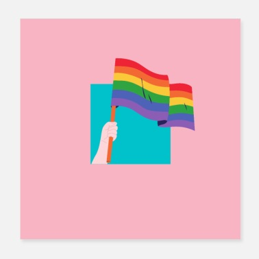 Rainbow Flag The Rainbow Flag - Pride Month Design - Poster